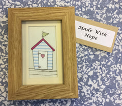 Beach Hut Picture In Frame