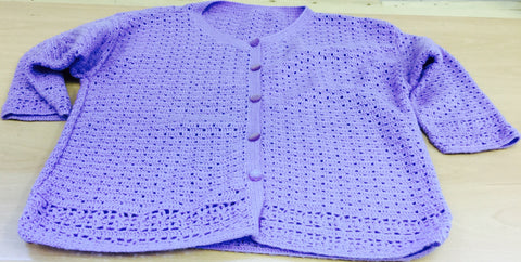Ladies Lilac Cardigan
