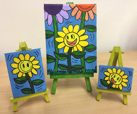 Maximus The Sunflower - Acrylic Paintings With Easels