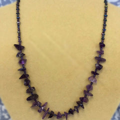 Amethyst Chips Necklace (D717)