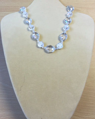 Clear Crystal Ovals Necklace