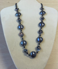 Black Bronze Italian Glass Necklace