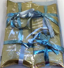 Christmas Colour Parcel Decorations in Clear Bag