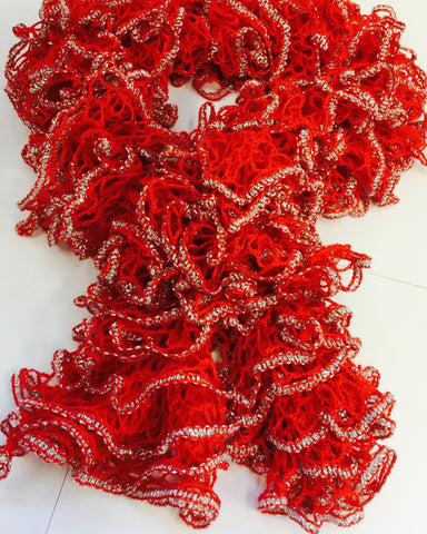 Red And Silver Scarf