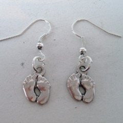 Earrings Footprint Hook Fasten