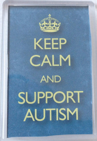 Keep Calm Support Autism Magnet
