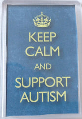 Magnet Keep Calm Support Autism