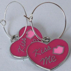 'Kiss Me' Hoop Earrings