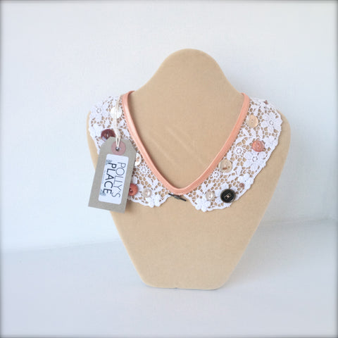 Lace collar necklace