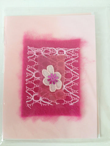 Felted Flower Greeting Cards