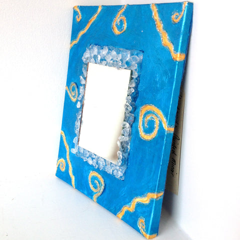 Handmade Painted Crystal Mirror