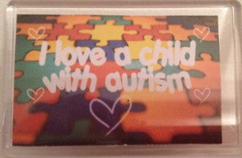 'I Love a Child with Autism' Magnet