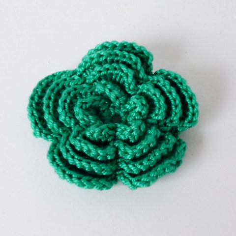 Crocheted Flower Brooches & Hair Clips