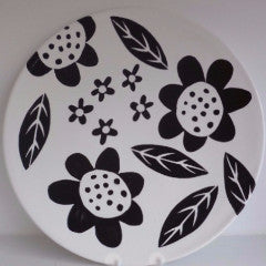 Tableware Platter Finbar Black Flowers
