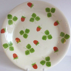 Tableware Dish Strawberry Smallprint Round