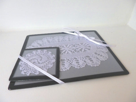 Ladies' Lace Mouse & Coaster Set