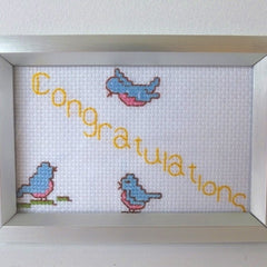 Congratulations Cross-stitch Frame
