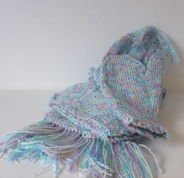 Multicoloured Scarf, Hat & Mittens Set