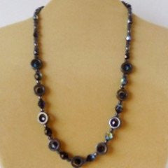 Hematite Rings Fire Polished Jet Necklace