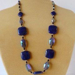 Lapis Lazule Earrings Necklace