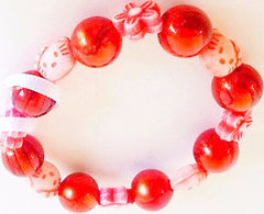 Bracelet Plastic Small Red Cats