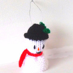 Knitted Christmas Hanging Decorations