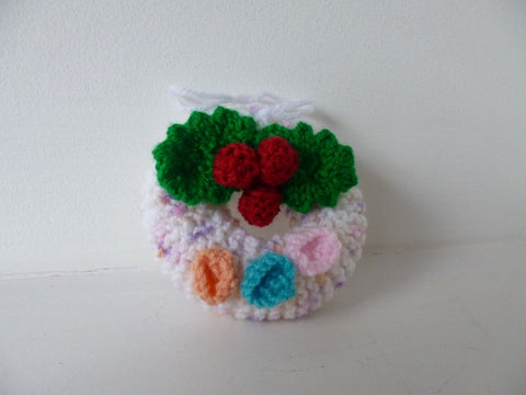 Knitted Wreath - Christmas Tree Decoration