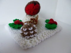 Knitted Christmas Table Decoration