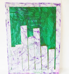 Abstract Purple and Green