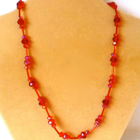 Necklace Bead Red