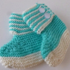 Fabric Baby Bootees