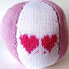 Plaything Fabric Ball Pink Heart