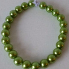 Metallic Green Bead Bracelet
