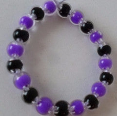 Purple and Black Children's Bracelet