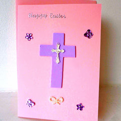 Card Happy Easter Pink