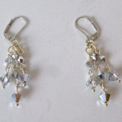 Earrings Crystal Clear Silver