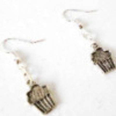 Earrings Metal Cupcake