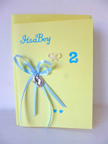 Boy Twin Congratulations Cards