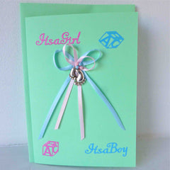 Girl & Boy Twin Congratulation Cards