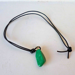 Amazonite Necklace dark green