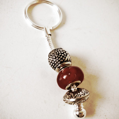 Keyring Bead Red