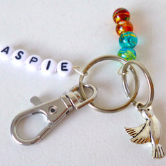 Beaded Autism Keyring