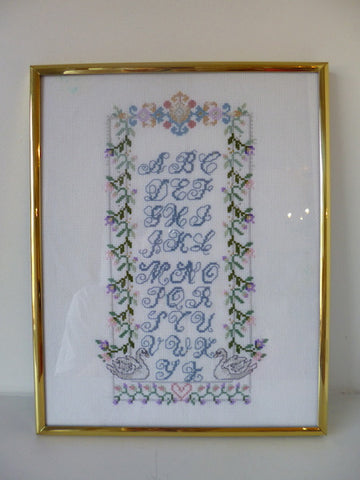 Embroidered Alphabet Frame