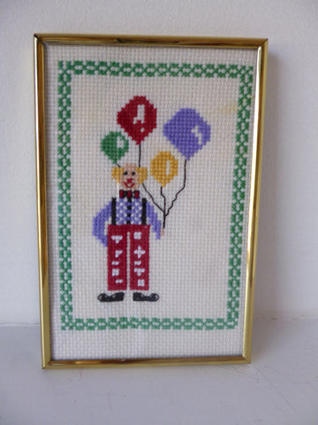Clown & Balloons Embroidery Frame
