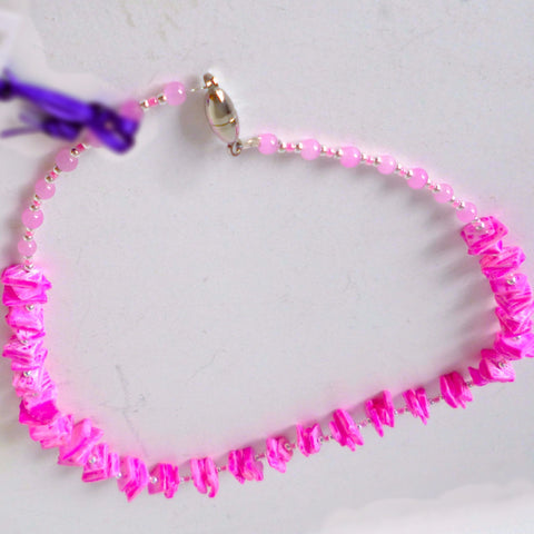 Pink Shell Chips Necklace