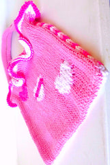 Bag Fabric Girls Pink Heart
