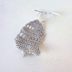 Silver Bell Crochet Decoration