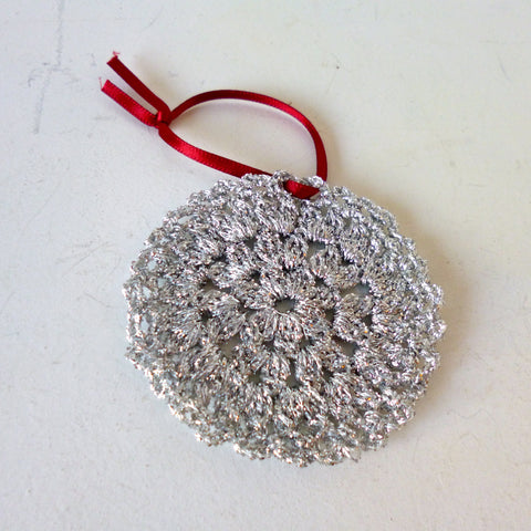 Silver Bauble Crochet