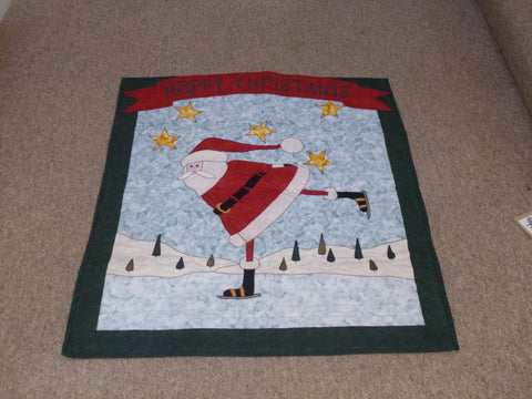 Large Quilted 'Happy Christmas' Scene