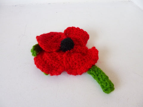 Knitted Poppy